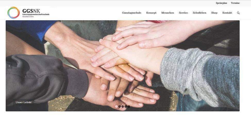 Homepage im neuen Design