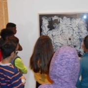 DaZ-Klasse besucht städtische Galerie Neunkirchen